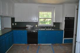 blue kitchen cabinets ideas kitchen monochromatic kitchen with light and brown
