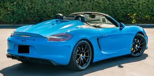 blue porsche boxster 2016 porsche 981 boxster spyder u2026 u2026sold exotic car search
