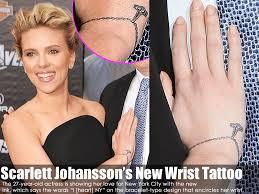scarlett johansson u0027s new wrist tattoo million dollar tattoo