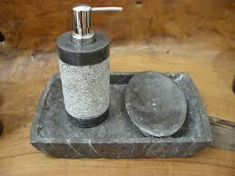 natural stone bathroom sink accessories dispensers and sets for