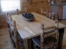 kitchen butcher block kitchen table rustic table log bench