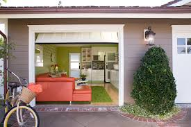 garage makeover from storage space to swanky hangout room