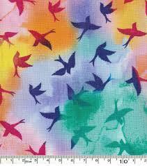 keepsake calico cotton fabric birds multi joann