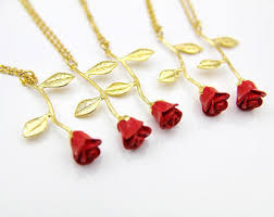 red rose necklace images Red rose necklace etsy jpg