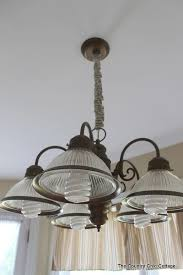 Painting Brass Chandelier How To Spray Paint Your Light Fixtures The Country Chic Cottage
