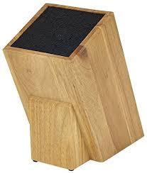 knife blocks amazon com kapoosh dice knife block light oak woodgrain knife