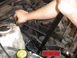 how to install a new belt tensioner with pulley for serpentine