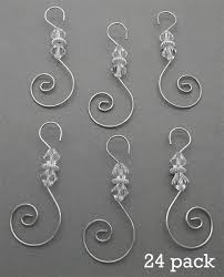 pack of 24 swirled beaded ornament hooks photo