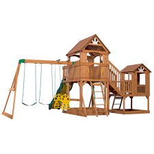 cedar playsets sams club montpelier wooden playsets with green