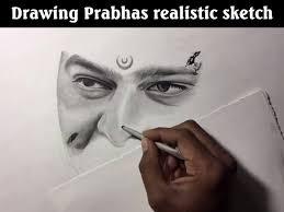 ntd life realistic sketch drawing baahubali prabhas