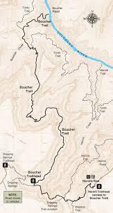 Grand Canyon Arizona Map by Boucher Trail Grand Canyon Association