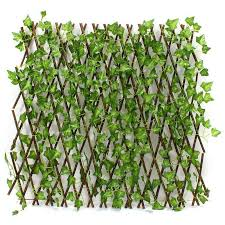 wooden leaves wall new extension type garden buildings fence artificial green leaf