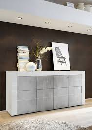 napoli four door sideboard gloss white grey finish sideboards