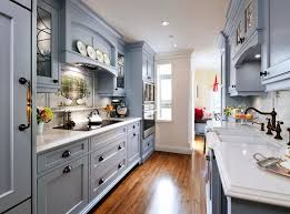 narrow galley kitchen ideas kitchen cool galley kitchen design with gray cabinet and wooden