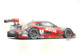 nissan nismo race car nissan gt r race version marker rendering on behance