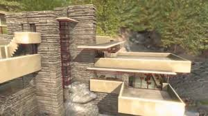 frank lloyd wright fallingwater house over waterfall youtube