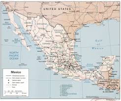 Mexico Political Map by Mexican Military Personnel