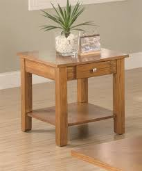 Oak End Tables End Table With Drawer And Shelf In Oak Finish Kitchen