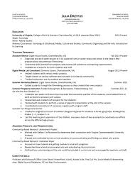Job Resume Sample Resume Samples Uva Career Center