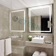 eterna light up led clock smart bathroom makeup wall mirror buy