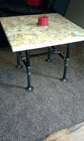 granite table tops for sale finished two of these end tables with black iron pipe legs and