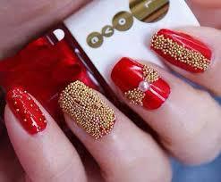 40 flamboyant red and gold nails nail design ideaz