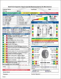 Vehicle Inspection Report Template Free by Free Shipping On All Multi Point Inspection Forms