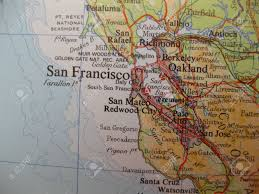 Map Of San Francisco by Map Of San Francisco California Stock Photo Picture And Royalty