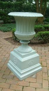 Urn Planters With Pedestal Cast Iron Planters Aileen Minor