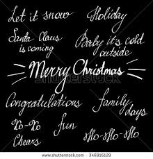 handwriting lettering happy new year merry stock vector 346916129