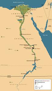 nile river on map part i the nile river that flows through and empties into