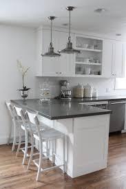 White And Grey Kitchen Ideas Elegant White Kitchen Islands Wooden Brown Varnished Floor Ceramic