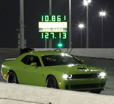 Dodge Challenger Lime Green - that hellcat owner by the tesla p85d he u0027s running in the