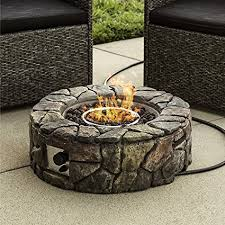 amazon gas fire pit table amazon com best choice products stone design fire pit outdoor home