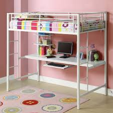 Wooden Loft Bed With Desk Underneath Furniture Wonderful Bunk Bed With Table Underneath For Children