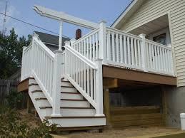 outside staircases front staircase house elevation flared deck
