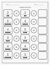 kindergarten worksheets maths worksheets addition with dots