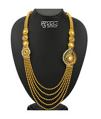 antique necklace images Sukkhi kritika kamra one sided 5 strings gold plated antique jpg