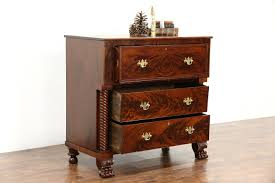 empire 1830 u0027s antique mahogany secretary desk lion paw feet