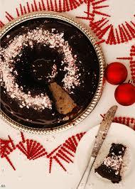 chocolate peppermint bundt cake with peppermint ganache gf df