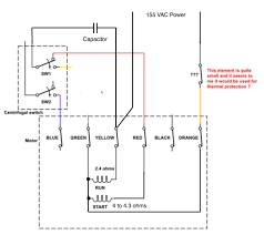 capacitor start run induction motor electrical wiring diagram