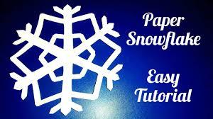 paper snowflake easy tutorial youtube