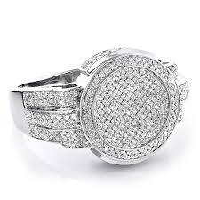 rings for pave diamond rings for men 1 15ct 10k gold ring