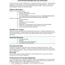 how to ideas how to right resume excellent ideas how to write your first resume 5