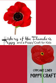 the history of the flanders poppy u0026 poppy craft for kids