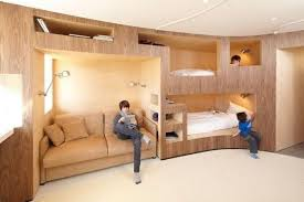 modern bunk beds offering attractive space sacing ideas for large