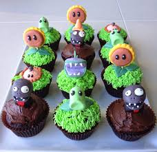 Plants Vs Zombies Cake Decorations Plants Vs Zombies Cupcakes Absolutely Terrific I Can Play This