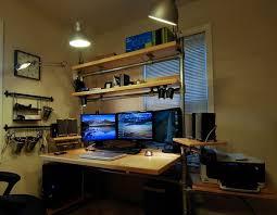 Best Computer Desk For Home Office Brilliant Computer Desk Setup Cool Office Furniture Plans With
