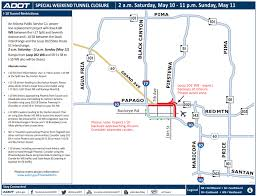 Phoenix Road Map by I 10 Closed Near Downtown Phoenix This Weekend For Aps Power Line