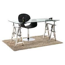 bureau en acier bureau acier et verre plateau en mm e structure en bureau est